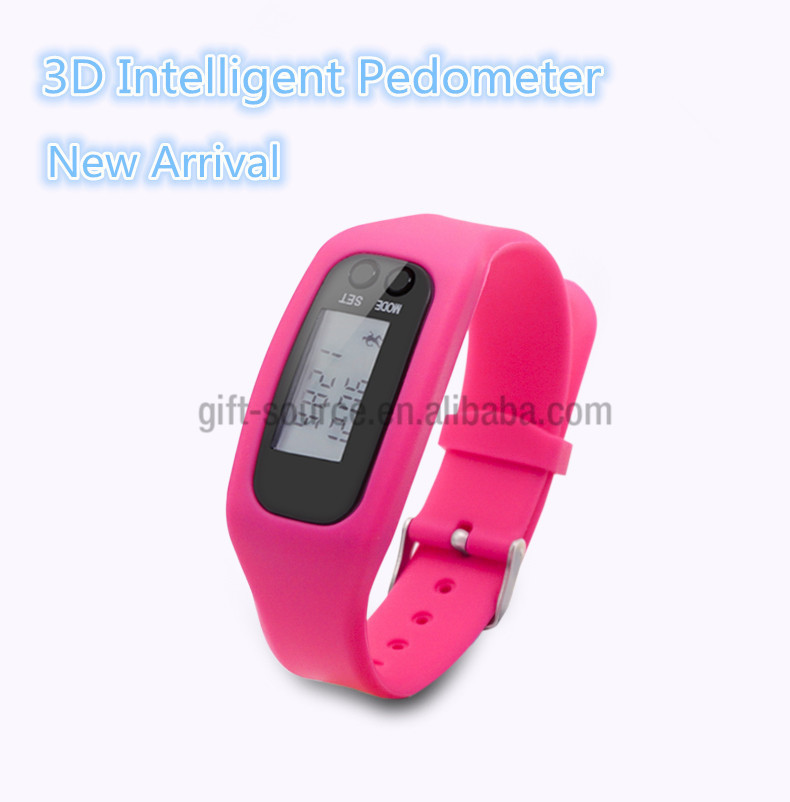 digital promotional bluetooth cow 3d wrist pedometer watches