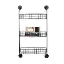 Home goods 3 tier models black metal ladder mesh wire grid pipe wrought iron storage flower hanging wall rack <strong>shelf</strong> for plant