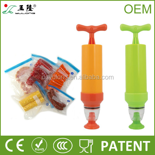 PE vacuum bag with manual pump, vacuum storage bag