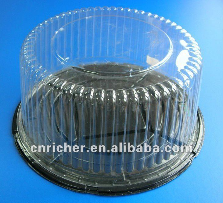 plastic cake container with dome lid