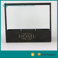 new product Rectangle painted wooden planter decorative wooden planters wine crates wholesale