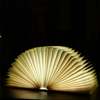 USB Rechargeable LED Folding Book Light Nightlight for Desk & Table