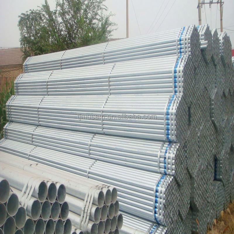 BS1387 hot dipped galvanized steel pipe / black iron tubes