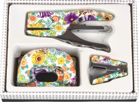 New Developing eco-friendly floral mini stationery set