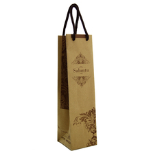 mini/small cheap brown kraft paper bag shopping gift bags with handle Wholesale