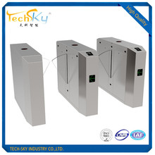 304 stainless steel access control security flap barrier turnstile gate for company door