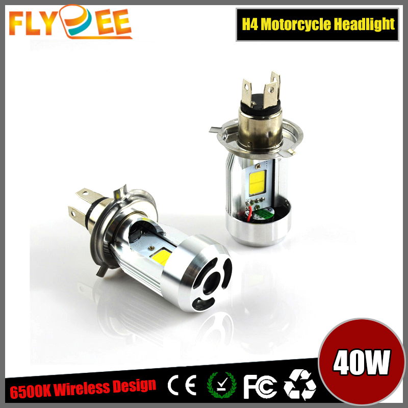 2016 LED Motos Bulb Hi/Lo H4/HS1(M4) Projector Beam Motorcycle Headlight 6500K Bulbs Moto Light
