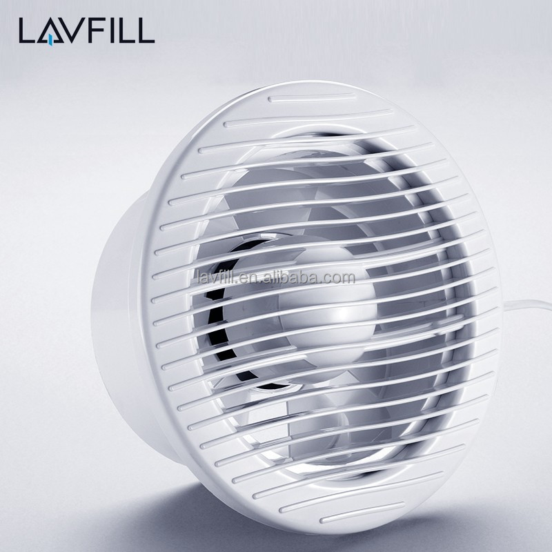 Round Shutter Bathroom Exhaust Fan Axial Flow Fan Experiment 150mm