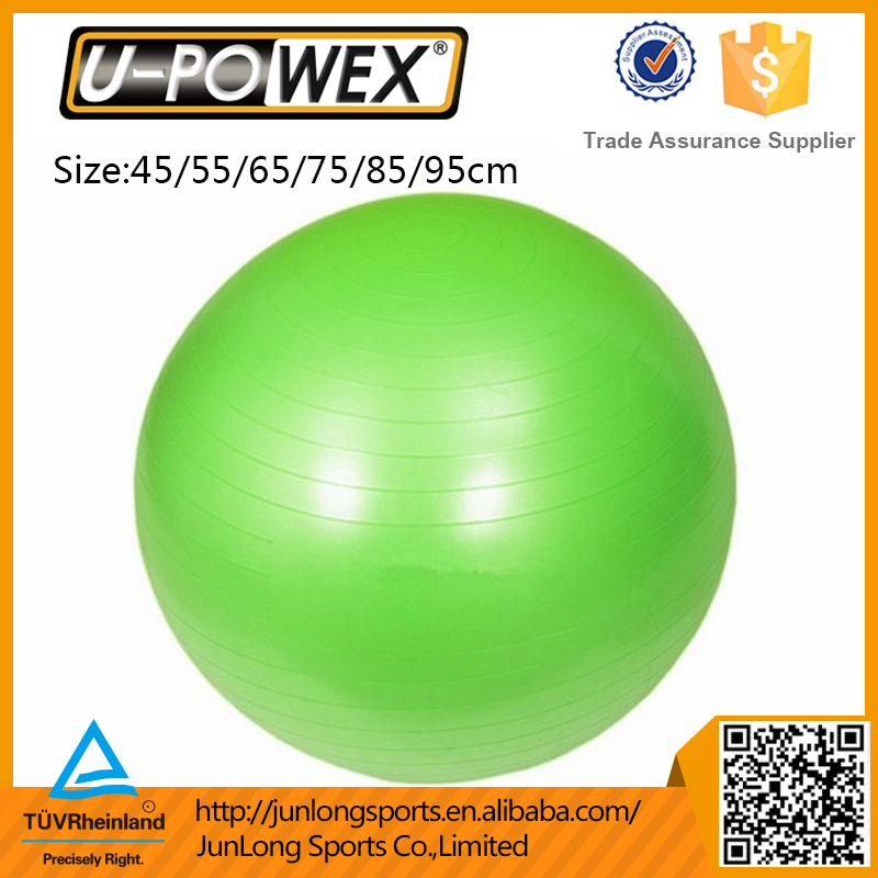 Anti-burst fitness gymnastic stability yoga ball with pump
