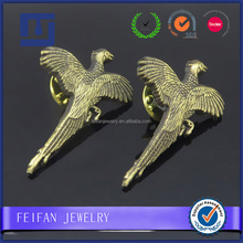 Superior brass alloy hardware jewelry logo engraved die struct eagle lapel pins