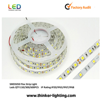 2015 China SMD 5050 60 LED strip light specification 12v 24v