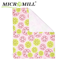 Microfiber dish towel with printed, soft dish towel set