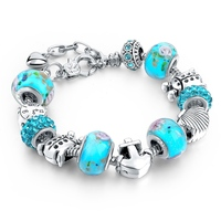 Holiday Love Beach Series Turtle Anchor Shell Charm Bracelet Fashion Women Bracelet