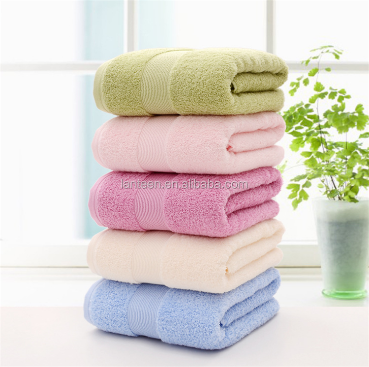 bath towels 70x140 color cotton towel 100% supplier in china