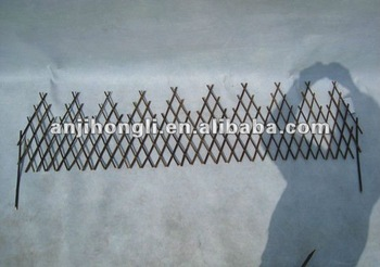 Eco-friendly Natural Wood Frame Willow Border Fence Fencing Screen