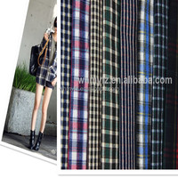 wool fabric tartan plaid T/R checked fabric for coats