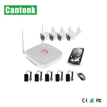 CCTV Wifi kits 4ch 8ch diy security product Wireless reversing camera kit P2P onvif 1080P wireless camera connection kit