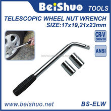 17 19 21 23mm Car Tyre Extendable Brace Lug Socket Wrench for Auto Repair Telescopic Wheel Nut Wrench
