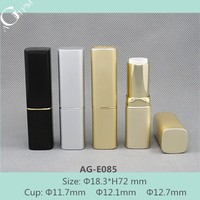 AG-E085 Cosmetic Packing Aluminum Cup Size 12.1/12.7 Hot Sale Rectangular Aluminum Lipstick Tube