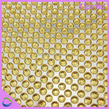Best Selling Round Stone Fancy New Resin Mesh Sticker
