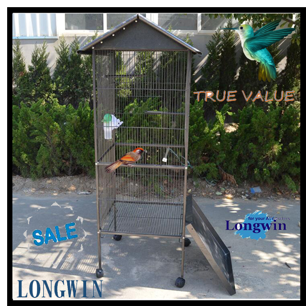 Chinese Foldable metal wire bird cages, bird breeding house, parrot cage