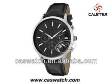 Wholesale q&q quartz genuine leather strap men watch with water resist 5 bar