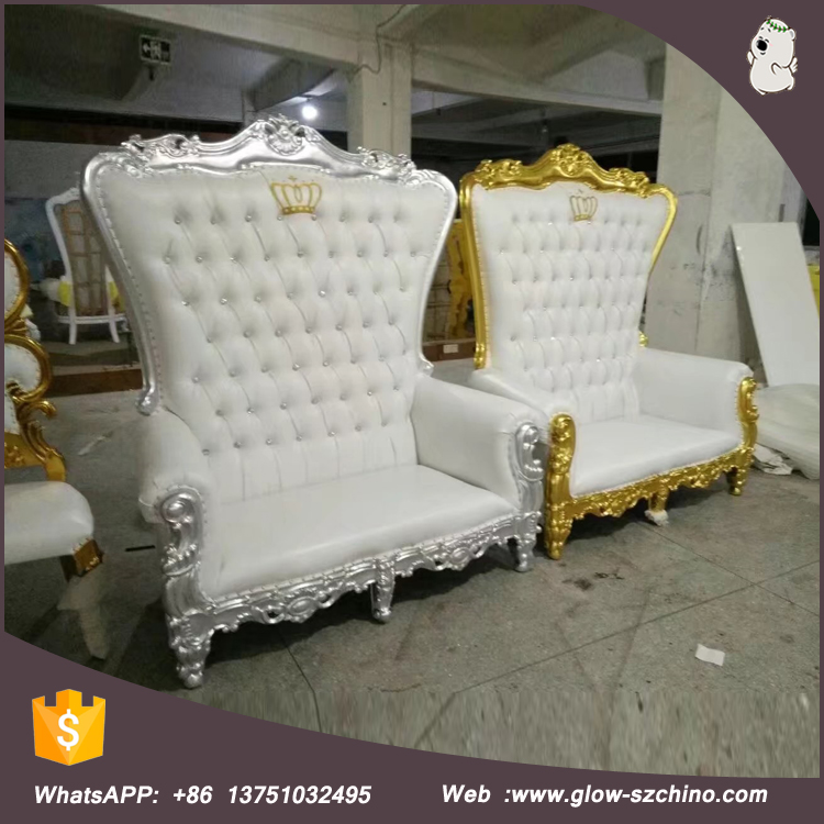 Factory price throne chairs luxury wedding