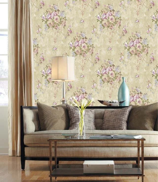 flower paper Wholesale Pvc embossed vinyl paper back luxury bedroom 3d wall paper sticker home deco