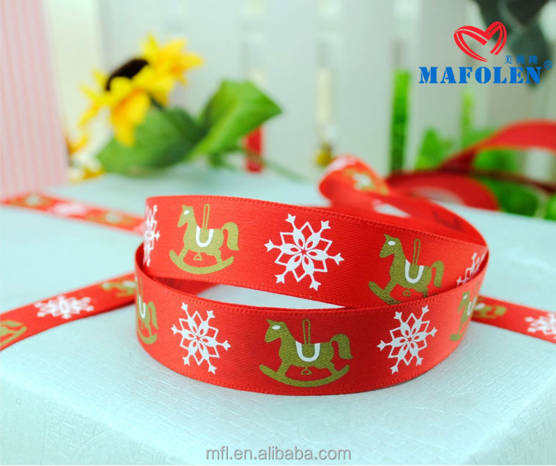 Wholesale price high quality fashion printed horse ribbon