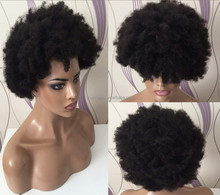 Hot sale virgin indian hair afro hair 7x9 size perimeter pu with lace front base men toupee for basketball player free shipping