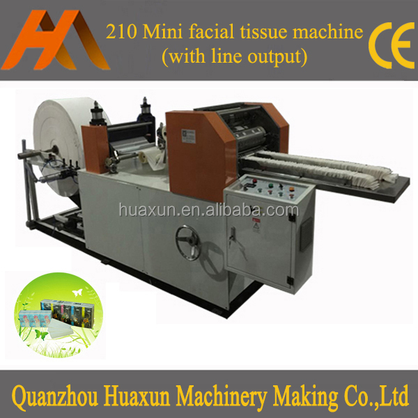 Automatic pocket facial paper equipment, machine embossed folding hanky tissue manufacturer
