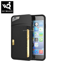Geniune High-class PU Leather Card Slot Back Mobile Cover Case For iphone 6