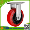 Industrial fixed caster 200mm heavy duty hand trolley wheel