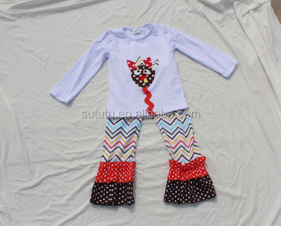 Western Fashion Children Boutique Outfits Printed Cute Animal Baby Clothing Set In Plus Size Infant And Toddler Clothes