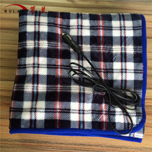 Portable 12v car electric heating small heated throw blankets for vehicles