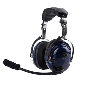 Two way radio noise canceling headphone pilot headset for sepura stp8000