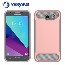 Wholesale Phone Cases Rubber Oil Paint PC TPU Hybrid Case for Samsung J3