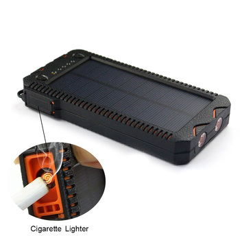 2017 Wholesale Mindtech solar charger power bank with led light and phone charger
