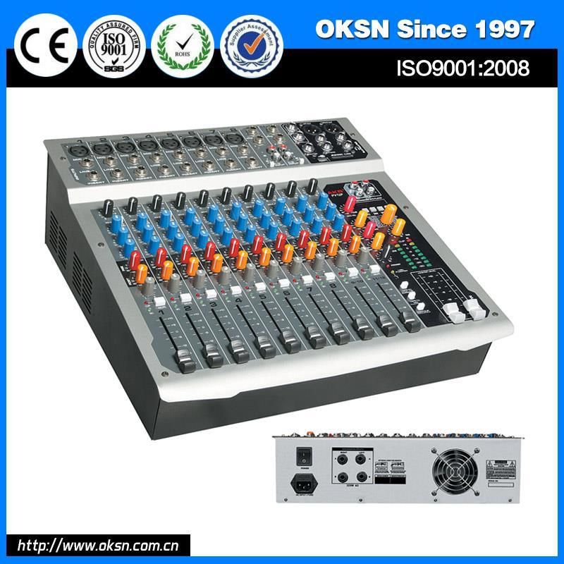 Plastic PV12PUSB powered mixer 12 channel made in China