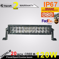 Good Waterproof 4D !! 20inch led light bar 120w led driving light bar 4X4 offroad Auto parts used for ATV SUV BOAT YACHT