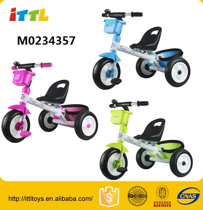 Ride on vehicle cheap kids tricycle,3 colors kids tricycle bike,kids tricycle with back seat