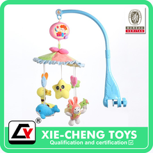Battery Operated module sound funny Soft musical baby cot mobile toys, custom sound machine bed hanging bell winkel rattle baby