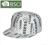 BSCI audit cheap fashion hat painter flat supreme cap