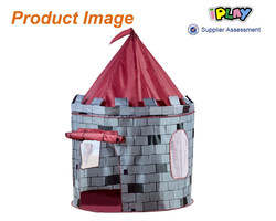 black and grey fabric knight Castle tent for boy use play house tent