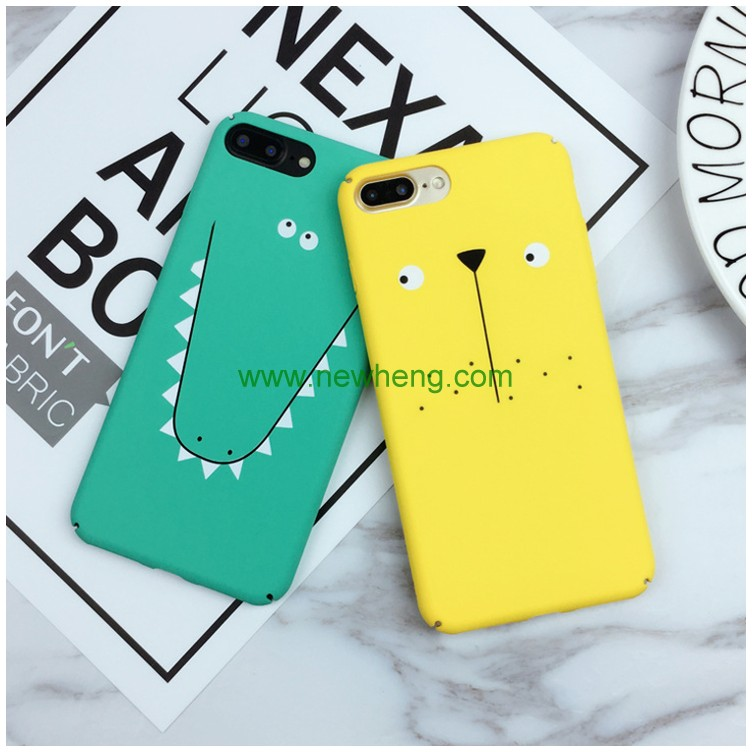 New stylish cartoon hard plastic matte PC full protective case For iphone 7