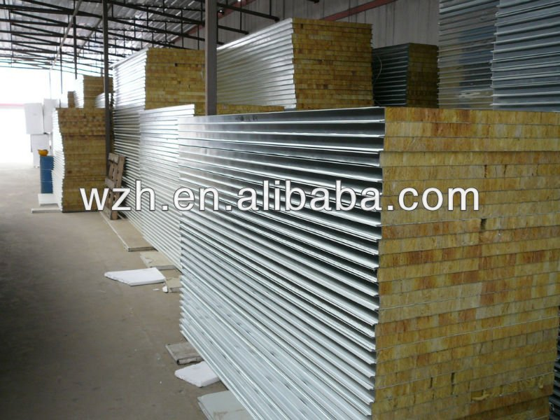 Prefabricated steel framed house/sandwich wall panel/roof sheets
