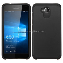 Protective Hybrid Phone Slim Armor Case Cover for Microsoft Lumia 650