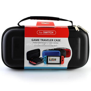 For Nintendo Switch Hard Shell EVA Carrying Case with 10 games card and 1 mesh pocket