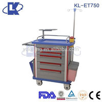 whole ABS cover hospital medical equipment mini surgical mobile case with casters chinese manufactory price best selling trolley