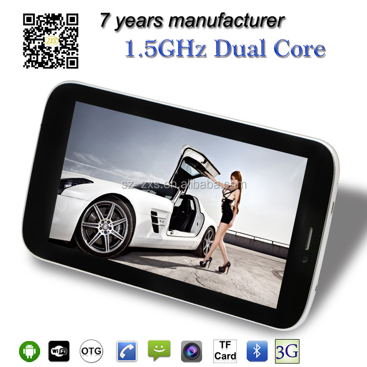 ZXS-S5 all in one pc support Wifi 2g dual core android wholesale 7 inch smart phone tablet
